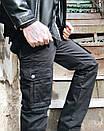 8813-1 D черные ITENO брюки-карманы мужские полубатальные демисезонные не тянутся (33-42, 6 ед.), фото 5