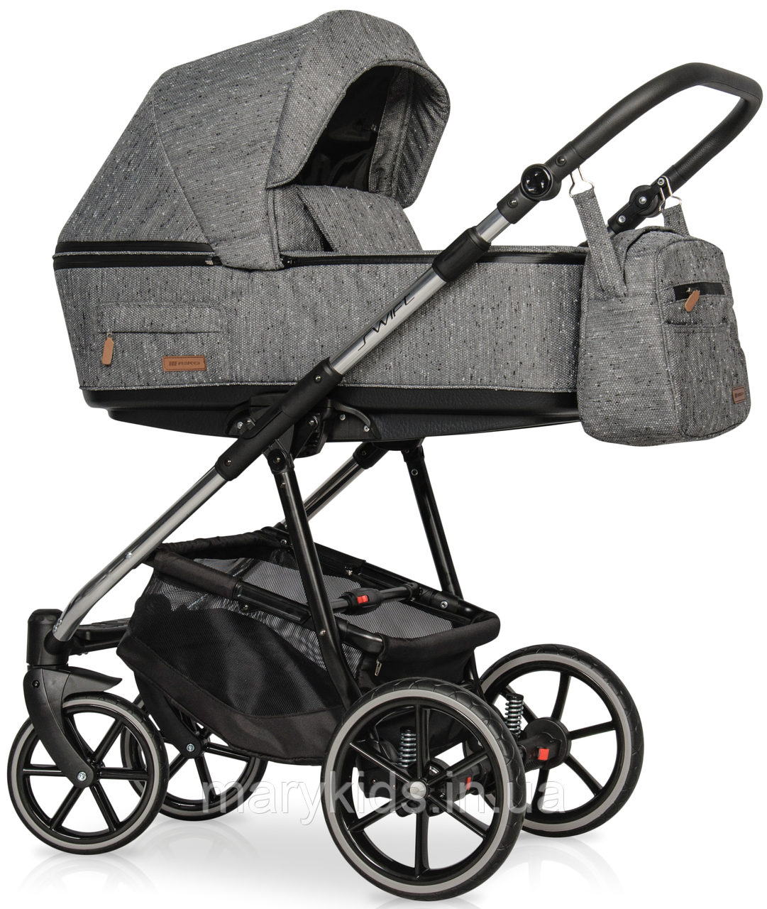 Детская универсальная коляска 3 в 1 Riko Swift Premium 12 Titanium