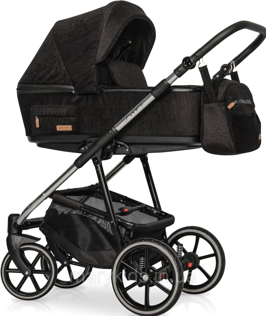 Дитяча універсальна коляска 3 в 1 Riko Swift Premium 13 Carbon
