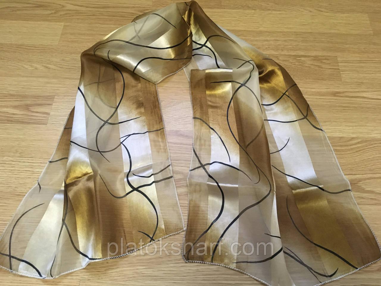 Шарфы женские, шарфы Атласные в ассортименте моделей 140*40 см