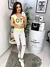 0122 желтая MMC футболка женская с принтом стрейчевая (S-XL, 4 ед.), фото 3