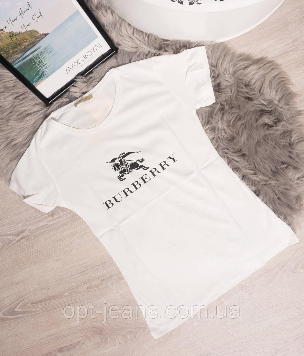 19099-B молочный X футболка женская с принтом летняя стрейчевая (S-L, 5 ед.)