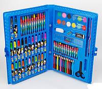 Художественный набор для рисования 86 предметов в кейсе Синий