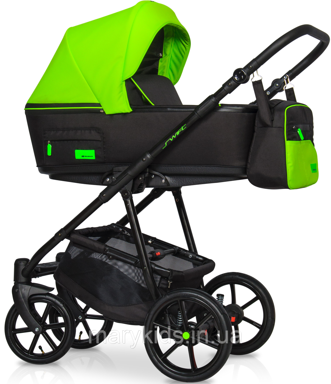 Дитяча універсальна коляска 3 в 1 Riko Swift Neon 21 Ufo Green