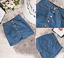 10002 Defile юбка джинсовая на пуговицах осенняя котоновая (34-40, евро, 6 ед.), фото 5