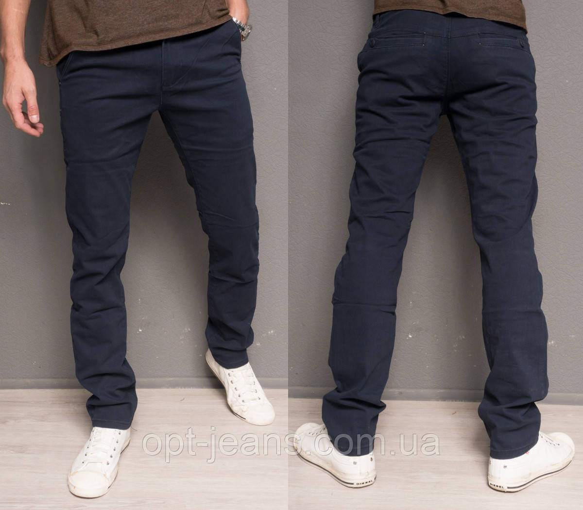 7041 GGRaces брюки мужские темно-синие осенние стрейчевые (29-36, 8 ед.)