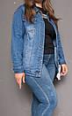 8868 Zijinyan куртка джинсовая женская батальная осенняя котоновая (4XL-9XL, 6 ед.), фото 2