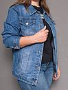 8868 Zijinyan куртка джинсовая женская батальная осенняя котоновая (4XL-9XL, 6 ед.), фото 4
