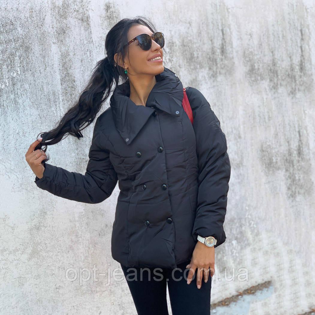 0386-черный Yoargin куртка женская на утеплителе демисезонная (M-2XL, 4 ед.)