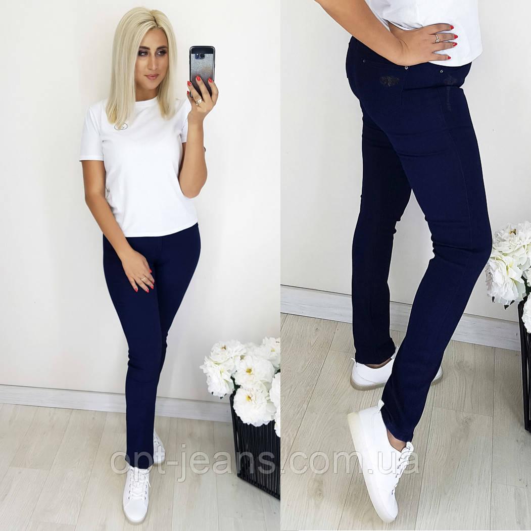 5064 Easy cool джинсы женские батальные темно-синие осенние стрейчевые (31-38, 6 ед.)
