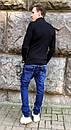 8381-8 Vingvgs джинсы мужские молодежные синие с царапками осенние стрейчевые (27-34, 8 ед.), фото 3