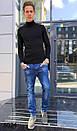 6024 Hopeai джинсы мужские синие с теркой осенние стрейчевые (29-38, 8 ед.), фото 2