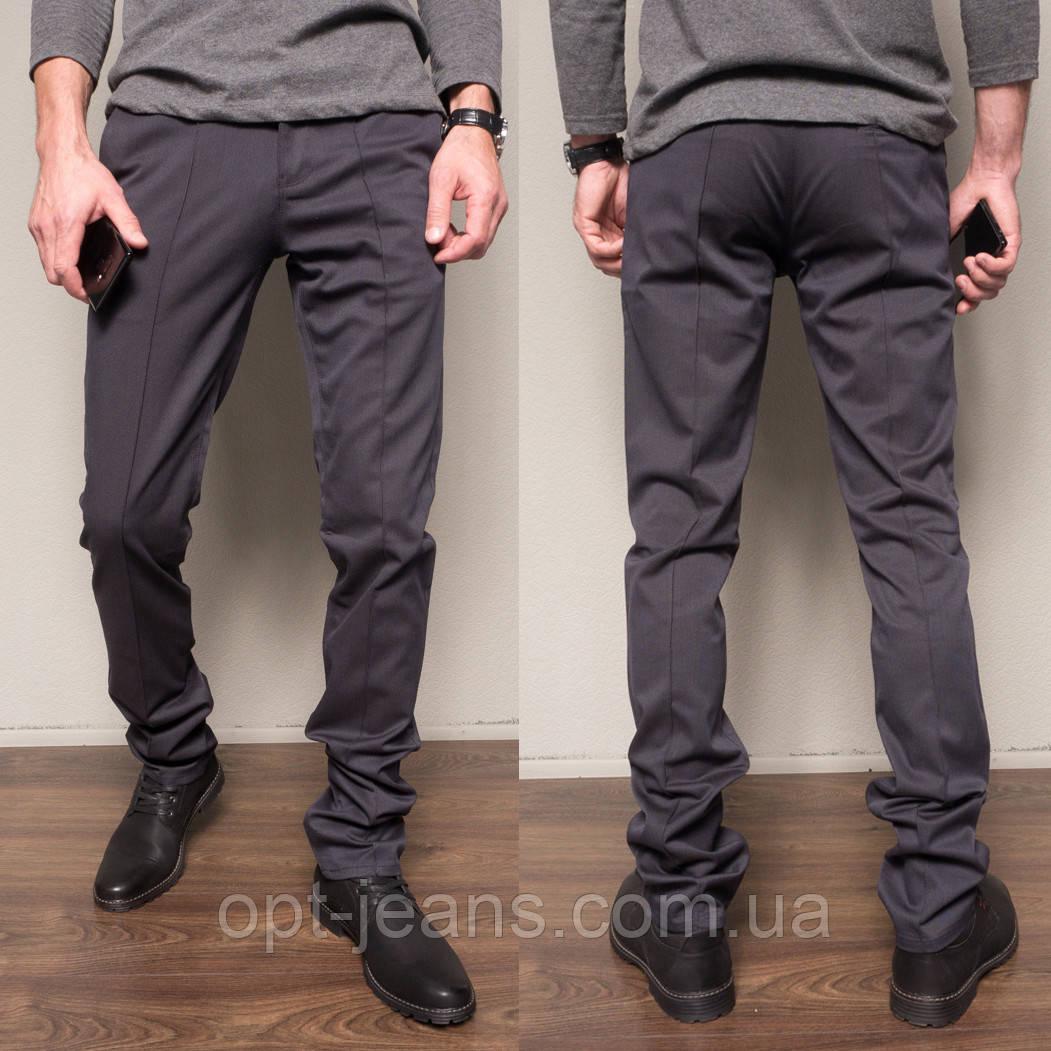 1265-R373 Prodigy брюки мужские молодежные темно-синие осенние стрейчевые (28-34, 7 ед.)