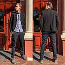 1269-R397 Prodigy брюки мужские темно-синие осенние стрейчевые (29-35, 7 ед.), фото 2