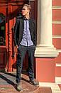 1269-R397 Prodigy брюки мужские темно-синие осенние стрейчевые (29-35, 7 ед.), фото 3