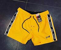 Шорты мужские Emporio Armani EA7 D7167 плавательные желтые