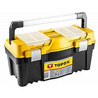 """Ящик для инструментов Topex 25 """", с алюминиевой ручкой (79R129), фото 1"""