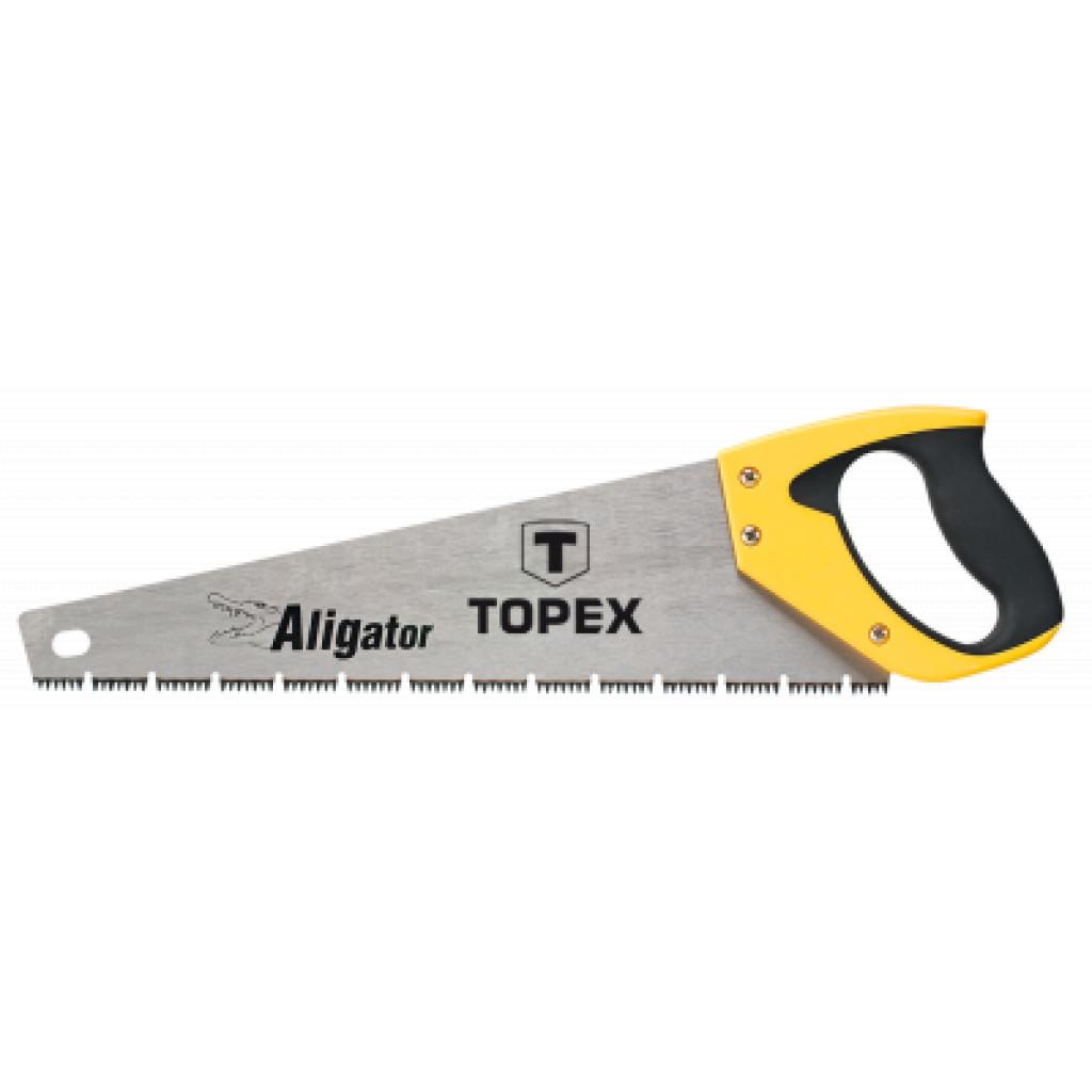 """Ножовка Topex по дереву, 500 мм, """"Aligator"""", 7TPI (10A451)"""