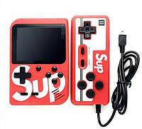 Портативная приставка с джойстиком консоль Retro FC Game Box Sup dendy 400 in 1 Красный