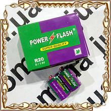 Батарейка Power Flash R20 12 шт./уп.