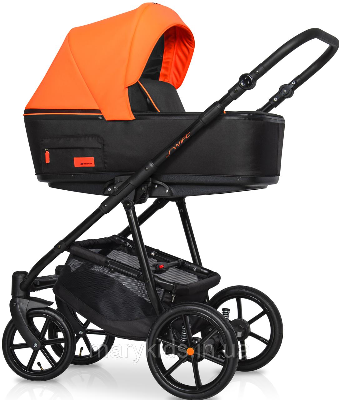 Дитяча універсальна коляска 3 в 1 Riko Swift Neon 24 Party Orange
