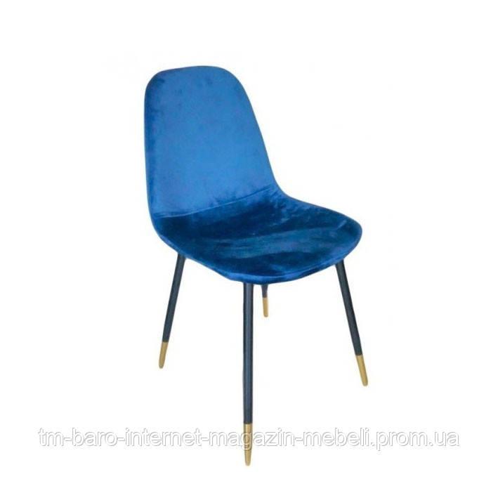 Стул Велюр, ткань, ножки металл, цвет синий