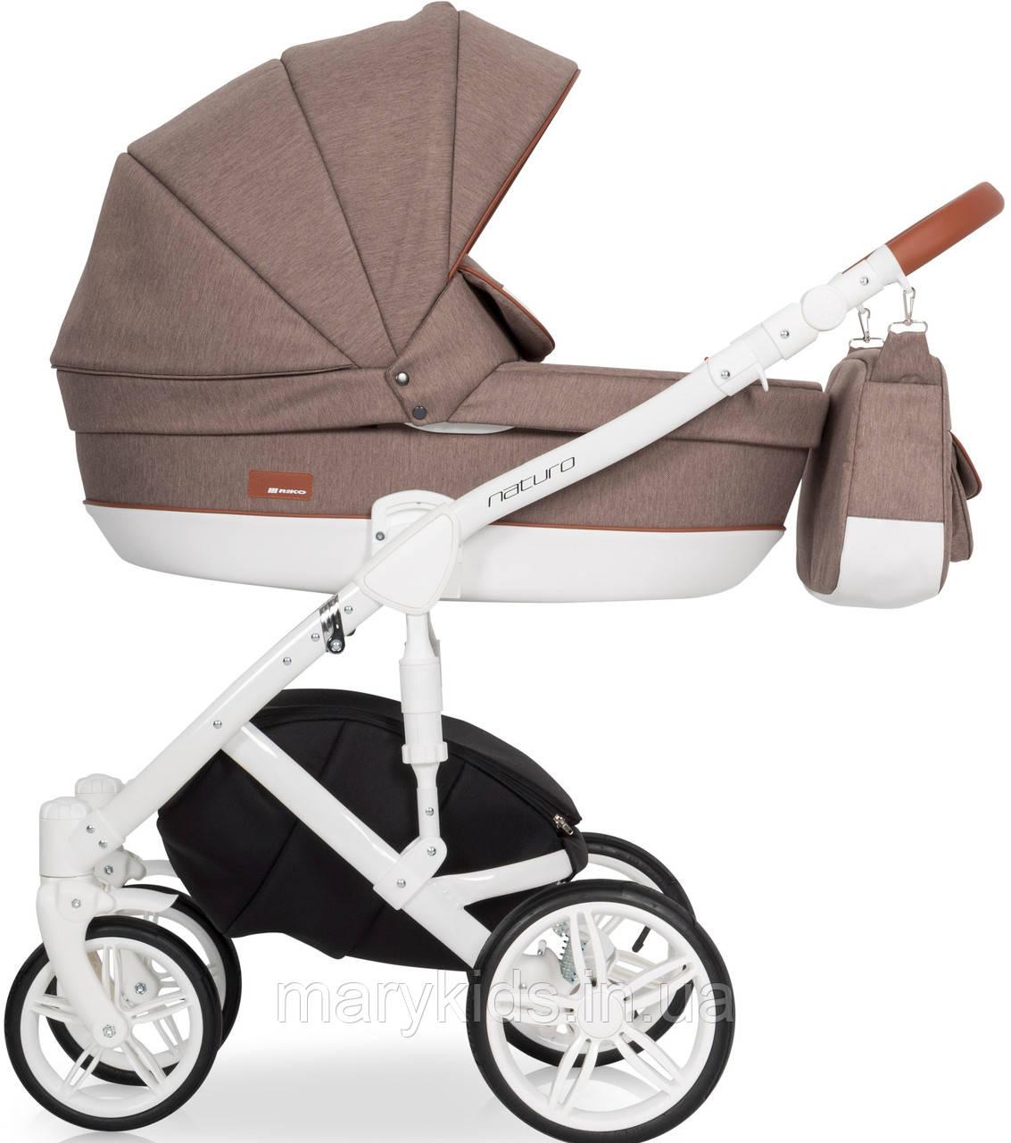 Детская универсальная коляска 3 в 1 Riko Naturo 03 Mocca