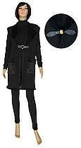 Жилетка женская теплая длинная на меху 19080 Lotti Lux черная
