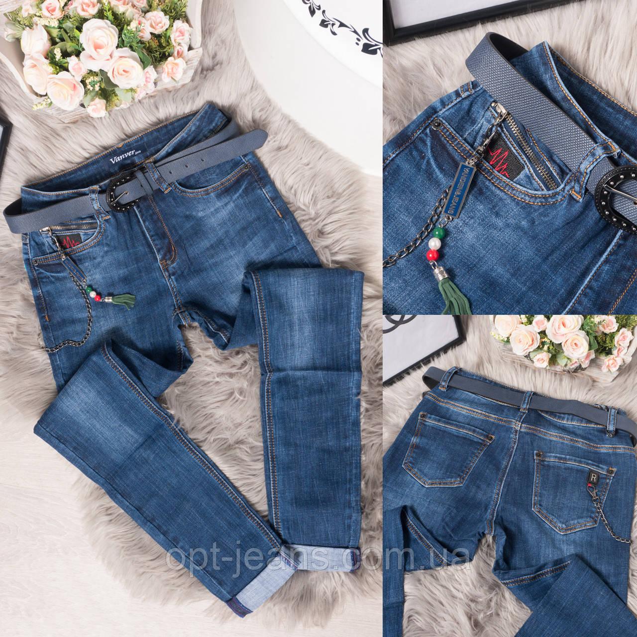 8175 Vanver джинсы женские полубатальные стильные осенние стрейчевые (28-33, 6 ед.)