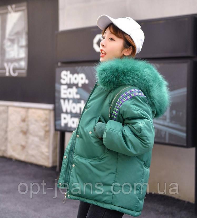 1512 (922) бирюзовая без меха X куртка женская зимняя (S-2, 2 ед.)