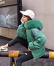 1512 (922) бирюзовая без меха X куртка женская зимняя (S-2, 2 ед.), фото 2