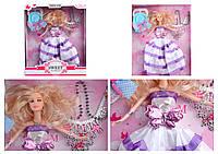 "Кукла типа Барби ""Невеста"" 4 вида, ожерелье,в кор. 35*29*8см /36-2/"