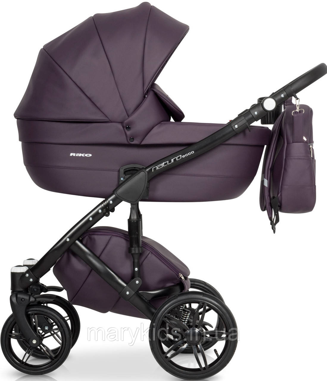 Детская универсальная коляска 3 в 1 Riko Naturo Ecco 01 Plum
