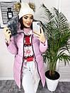 7818 розовая X куртка женская зимняя (S-XL, 4 ед.), фото 2