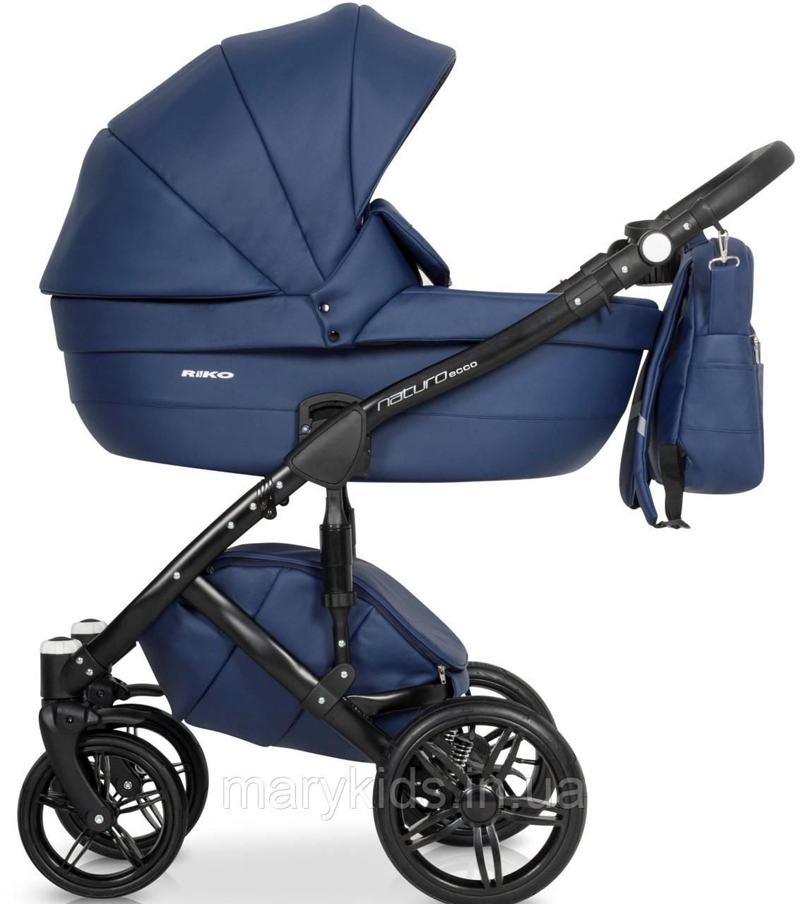 Детская универсальная коляска 3 в 1 Riko Naturo Ecco 02 Denim