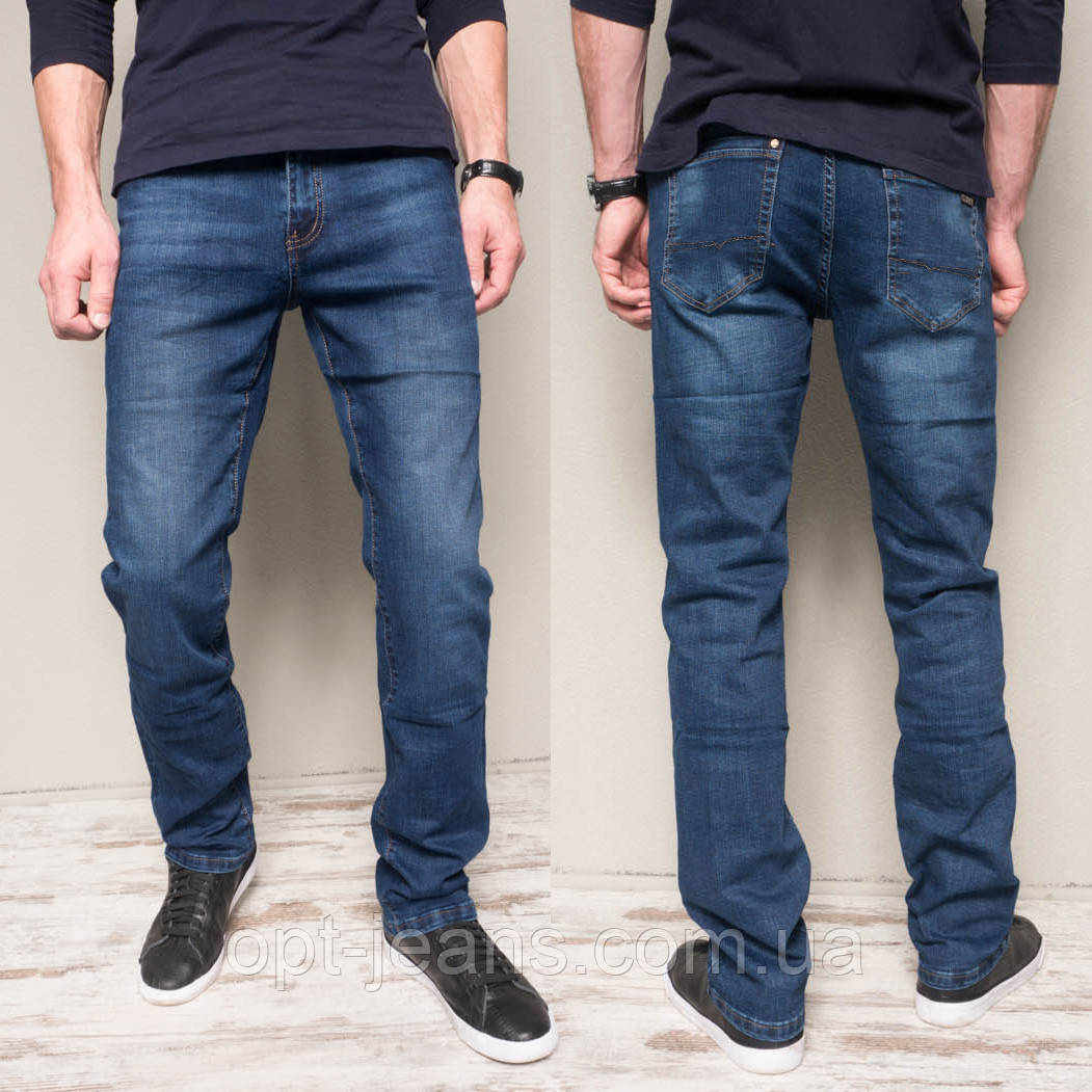6025 Hopeai джинсы мужские синие весенние стрейчевые (30-40, 8 ед.)