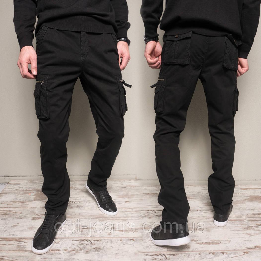 1862-black Forex брюки мужские молодежные карго на флисе зимние стрейч-котон (30-40, 10 ед.)