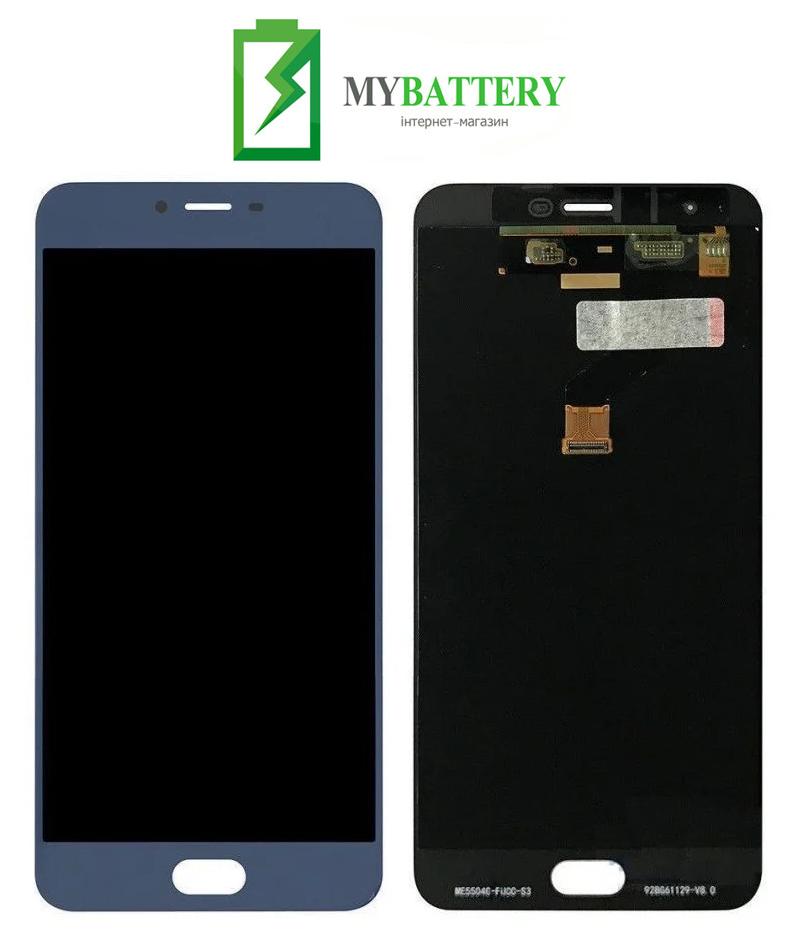 Дисплей (LCD) Meizu M3x (Meizu X) с сенсором синий