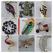 Модные брошки, броши, булавки оптом в Украине! Украшения для одежды от Бижутерия оптом RRR.