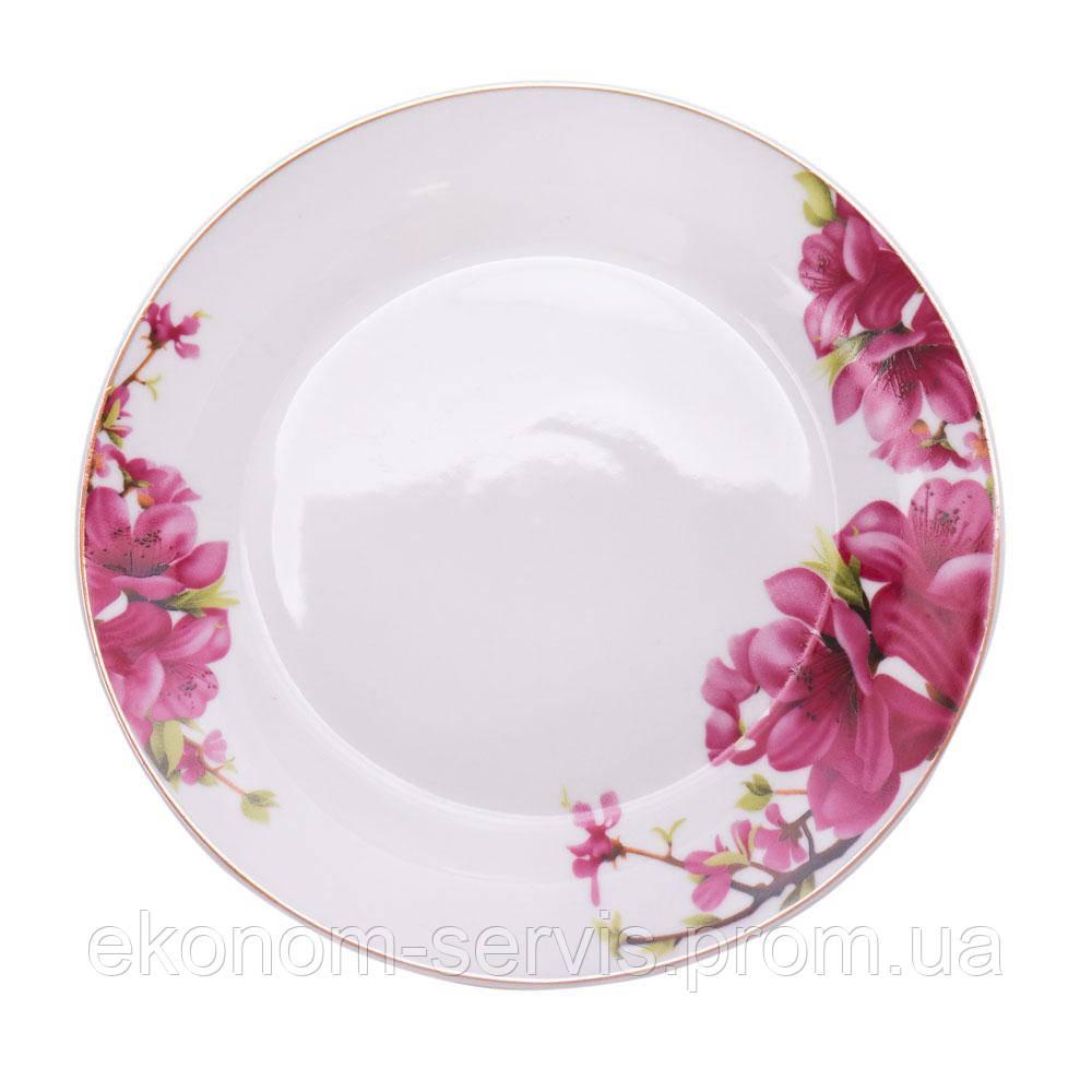 Порцелянова тарілка з принтом Сакура 7,5' (6 штук в наборі)