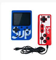 Портативная приставка с джойстиком консоль Retro FC Game Box Sup dendy 400 in 1 синяя