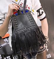 Рюкзак женский Kaila Ковбойский черный, фото 1
