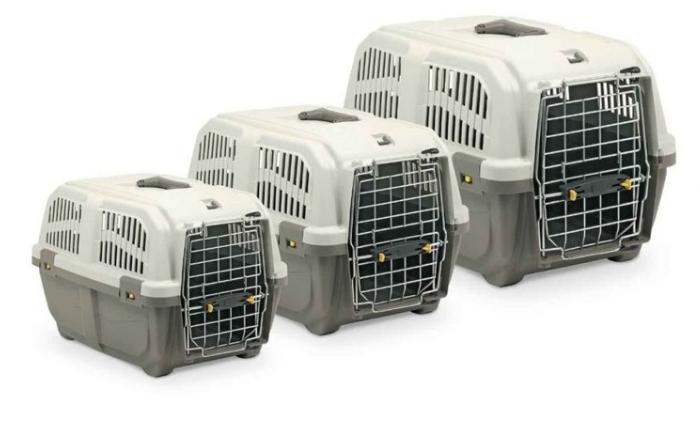 Переноска пластикова SKUDO 1 IATA  для котів та собак вагою до 12 кг, 48х31,5х31 см