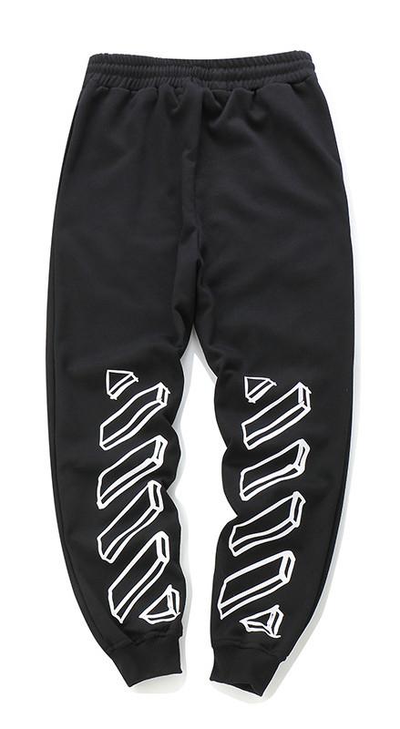 Чёрные штаны Off white (3D офф вайт) мужские женские