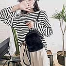 Женский рюкзак  из меха в модных цветах., фото 3