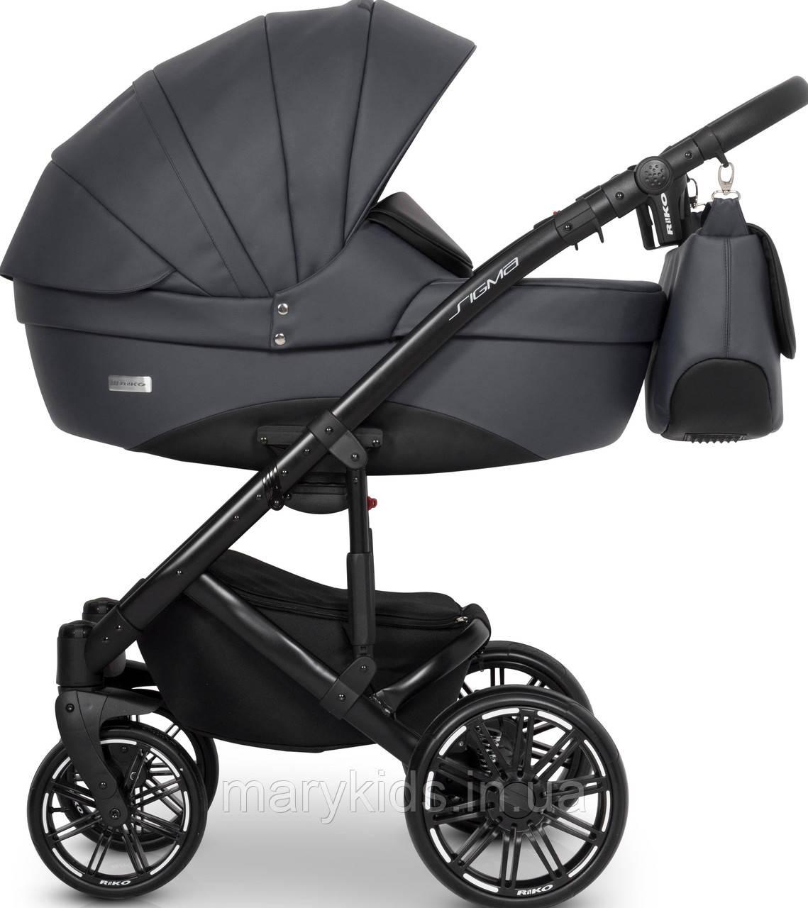 Дитяча універсальна коляска 3 в 1 Riko Sigma 01 Antracite