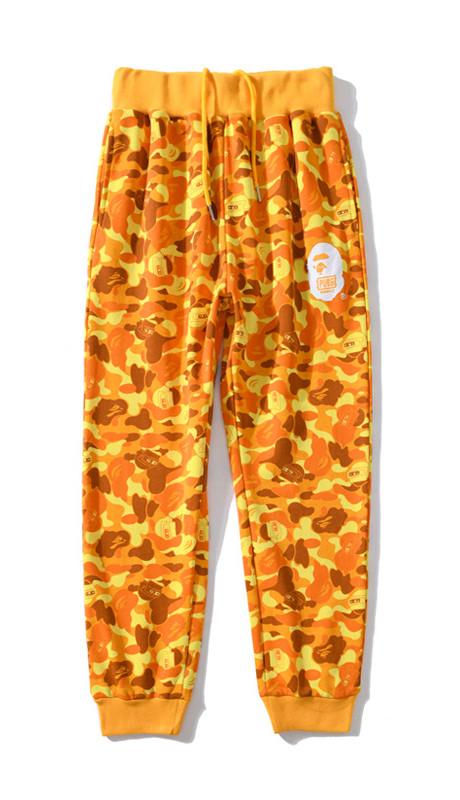 Жёлтые штаны Bape x PUBG (Battleground) мужские женские