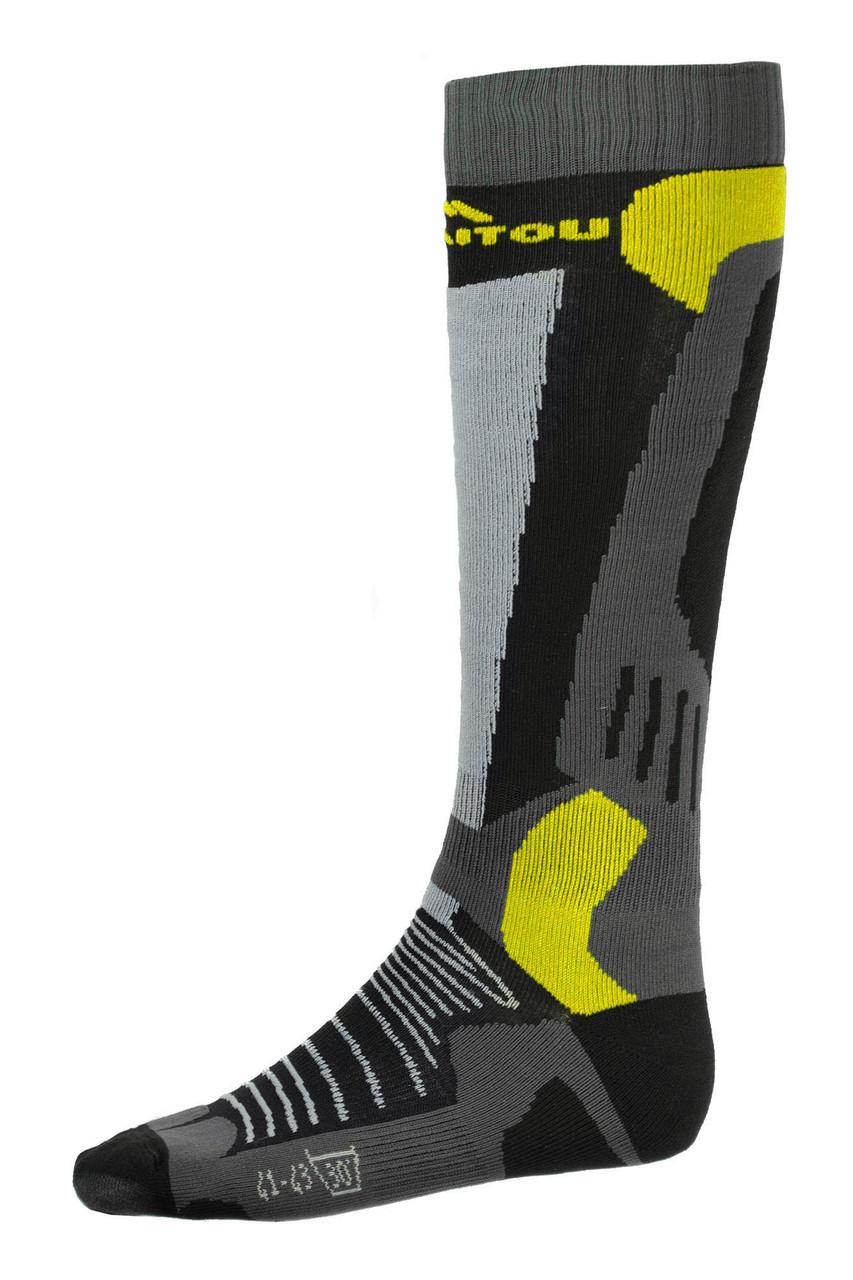 Шкарпетки лижні Emmitou 44-46 Black-Grey-Yellow