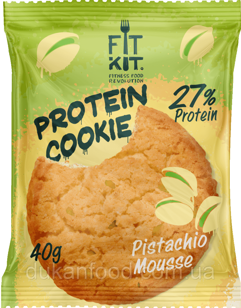 FitKit протеиновое печенье ФИСТАШКОВЫЙ МУСС