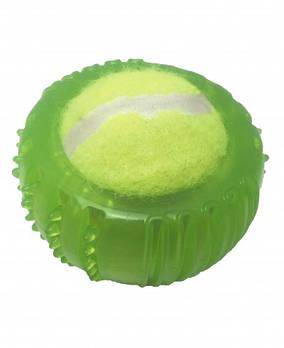 Игрушка для собак CROCI Взрывной теннисный мяч, резина/силикон, 8,5х7см